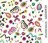 cute seamless bacteria pattern - stock vector