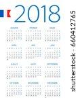 calendar 2018 year   french... | Shutterstock .eps vector #660412765