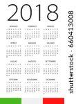 calendar 2018 year   italian... | Shutterstock .eps vector #660413008