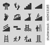 step icons set. set of 16 step... | Shutterstock .eps vector #660413185