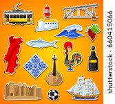 portugal stickers set.... | Shutterstock .eps vector #660415066