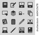 notebook icons set. set of 16... | Shutterstock .eps vector #660415678