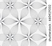 abstract linear petal flower.... | Shutterstock .eps vector #660419332