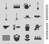 gardening icons set. set of 16... | Shutterstock .eps vector #660420232
