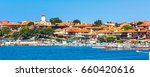 old town panoramic benner with... | Shutterstock . vector #660420616