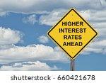 caution sign blue sky...   Shutterstock . vector #660421678