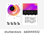abstract digital memphis style... | Shutterstock .eps vector #660444532