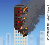 Fire Of The High Rise Building...