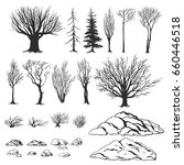 forest constructor  ink hand... | Shutterstock .eps vector #660446518