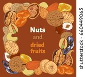 vector illustration nuts  and... | Shutterstock .eps vector #660449065