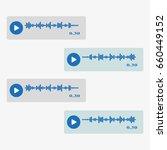 vector modern sms or voice... | Shutterstock .eps vector #660449152