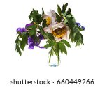 Bouquet With Irises And...