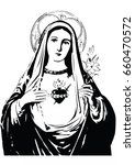 immaculate heart of mary vector ...