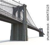 Brooklyn Bridge On White. 3d...