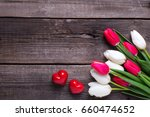 Two Red Decorative Hearts  And...