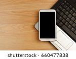 smartphone with black mockup... | Shutterstock . vector #660477838