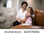 portrait of grandmother and... | Shutterstock . vector #660478006