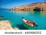 Matala Beach With Turquoise...