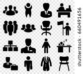 manager icons set. set of 16... | Shutterstock .eps vector #660491656