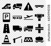 traffic icons set. set of 16...   Shutterstock .eps vector #660494038