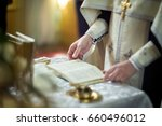 Church Utensil On An Altar Wit...