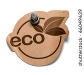 Eco Sticker Over A White...