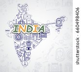 india icons set. | Shutterstock .eps vector #660498406
