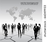 business people team with world ... | Shutterstock .eps vector #66049933
