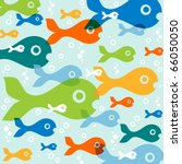 vector background with fish | Shutterstock .eps vector #66050050