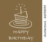 birthday cake card | Shutterstock .eps vector #66050059