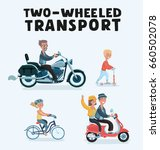 vector cartoon illustration set ... | Shutterstock .eps vector #660502078