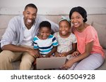 portrait of happy family... | Shutterstock . vector #660504928