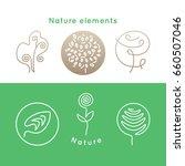 Vector Set Of Logo Nature...