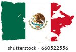 mexico flag grunge background.... | Shutterstock . vector #660522556