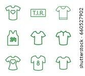 t icons set. set of 9 t outline ... | Shutterstock .eps vector #660527902
