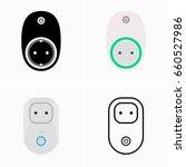 socket with remote shutdown | Shutterstock .eps vector #660527986