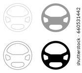 steering wheel  icon . | Shutterstock .eps vector #660531442