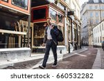 businessman is walking to work... | Shutterstock . vector #660532282