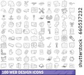 100 web design icons set in... | Shutterstock . vector #660537232
