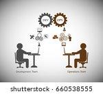 concept of devops  illustrates... | Shutterstock .eps vector #660538555