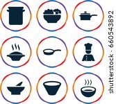 soup icons set. set of 9 soup... | Shutterstock .eps vector #660543892