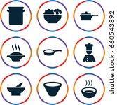soup icons set. set of 9 soup... | Shutterstock .eps vector #660543892