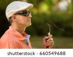 hispanic blind man  latino...   Shutterstock . vector #660549688