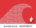 doctor standing in front of a... | Shutterstock .eps vector #660558052