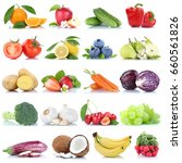 fruits and vegetables... | Shutterstock . vector #660561826