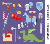 middle ages medieval knight... | Shutterstock .eps vector #660565636