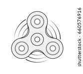 hand spinner vector template | Shutterstock .eps vector #660576916