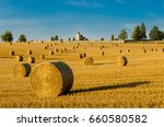 Romantic View Of Straw Bales...
