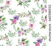 decorative seamless pattern... | Shutterstock . vector #660588532