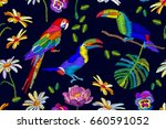 tropical summer forest.... | Shutterstock .eps vector #660591052